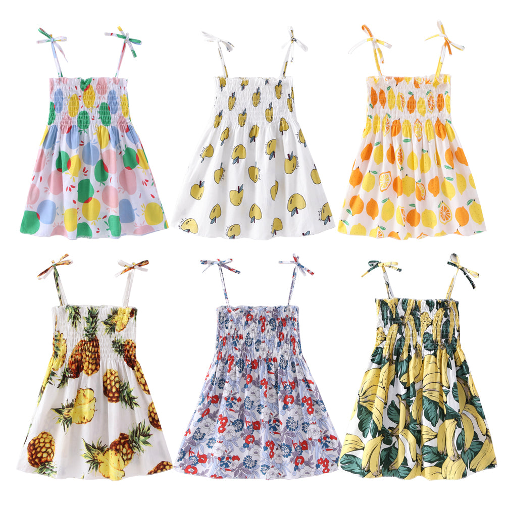 Cute Printed Summer Dresses for Little Ladies