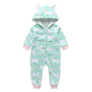 Cozy Coral Fleece Rompers by frugalbabies.com