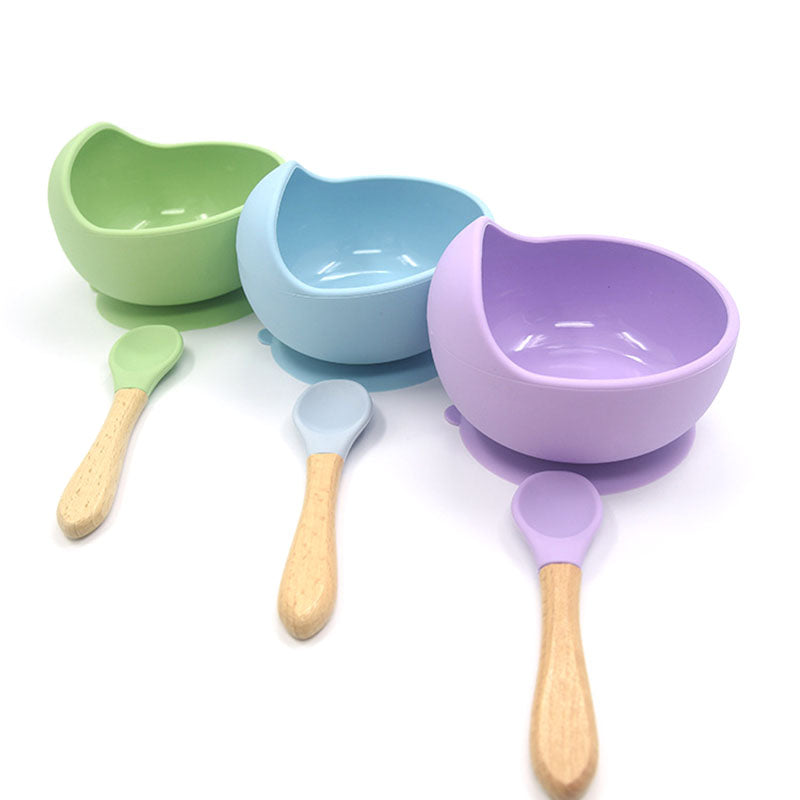 Silicone Bowl & Spoon Set by Frugalbabies.com