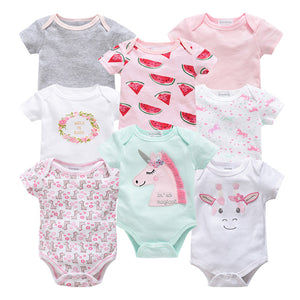 8 Piece Cotton Baby Bodysuit by Frugalbabies.com