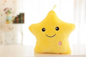 Soft Plush Glowing Colorful Stars Cushion by Frugal Babies