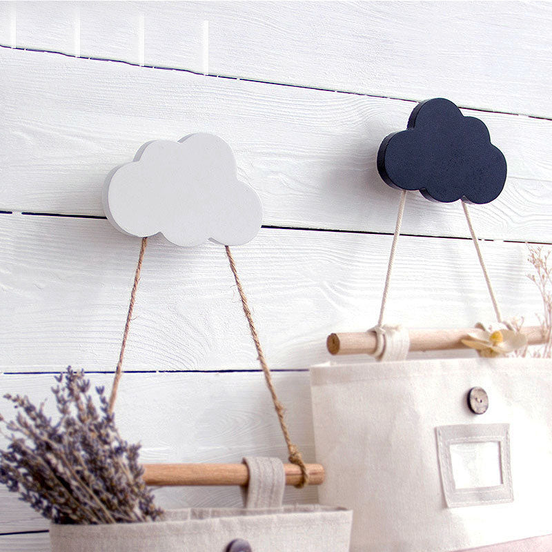 Wooden Wall-Mounted Cloud Hook  by frugalbabies.com