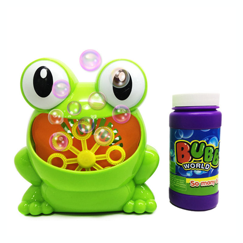 Automatic Frog Bubble Machine by frugalbabies.com
