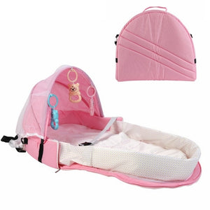 Portable Baby Bassinet with Mosquito Net & Sun Protector by frugalbabies.com