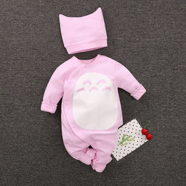 Two Piece Cotton Jumpsuit & Beanie by Frugalbabies.com