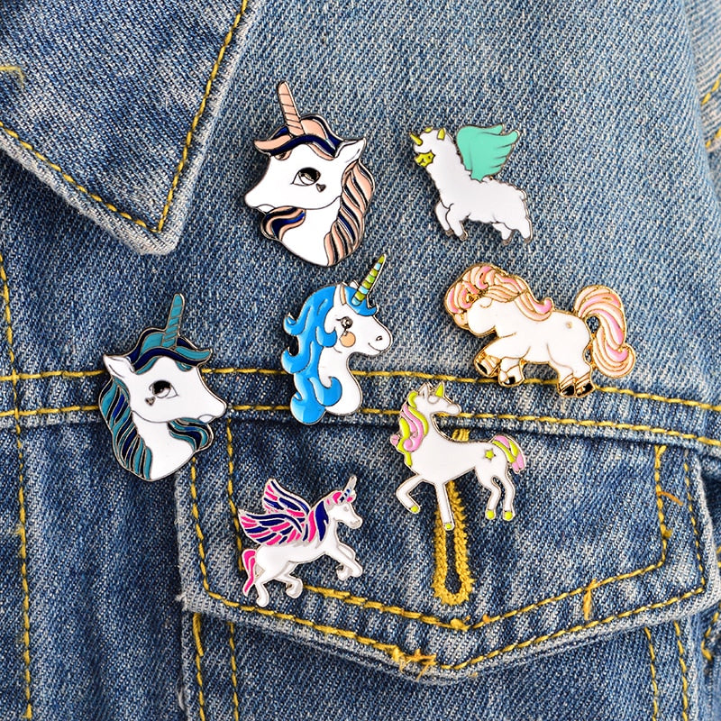 Unicorn Jewelry Brooch Button Pins  by Frugalbabies.com