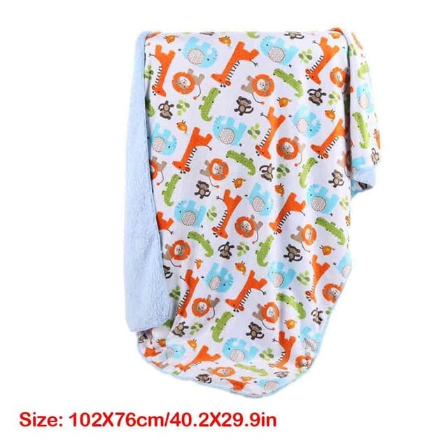 Baby Blankets Knitted Newborn Swaddle Wrap Soft Toddler Sofa Crib Bedding Quilt Winter Autumn Baby Stroller Blanket