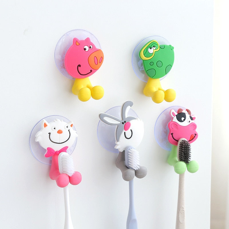Wall Mounted Cartoon Toothbrush Holder by Frugalbabies.com