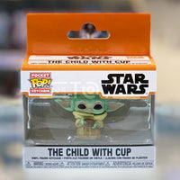 Funko Pocket Pop! Disney's Disney Plus The Mandalorian Grogu The Child with Cup Keychain 889698530422