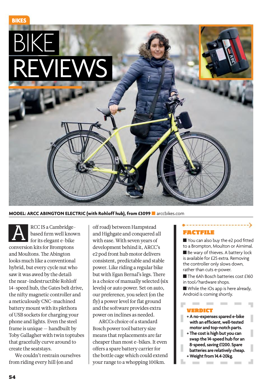 London Cyclist Abington bike review