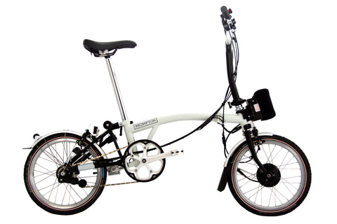 Black and White Brompton with e²-pod