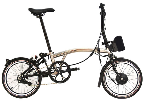 Nickel Edition Brompton with e²-pod