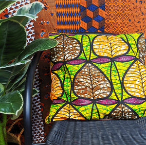 African Wax Print Pillows