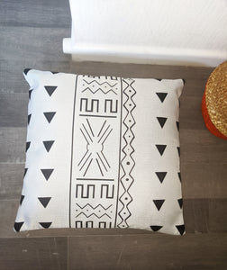 Mudcloth Inspired Pillows - Linen Feel