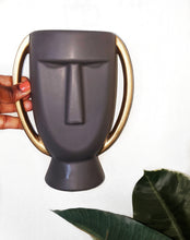 Load image into Gallery viewer, African Face Ceramic Vase