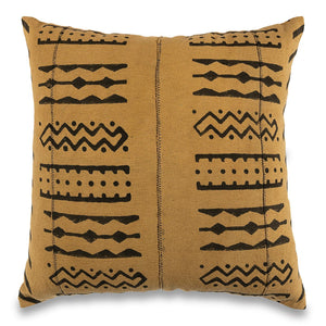 Mustard Mudcloth Pillow Covers