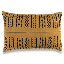 Load image into Gallery viewer, Mustard Mudcloth Pillow Covers