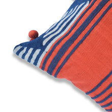 Load image into Gallery viewer, Orange and Blue Baoule Pillow Covers