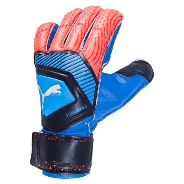PUMA Men's ONE Protect 3 Goalkeeper Gloves Blue/Red