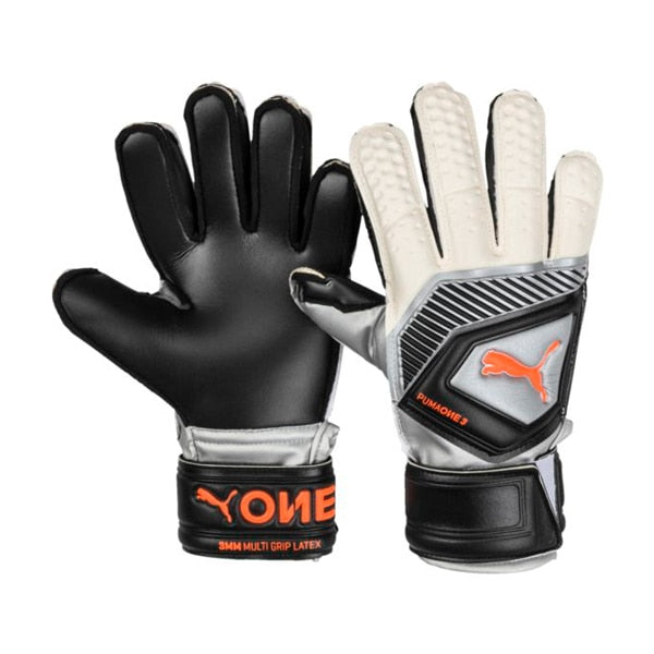 PUMA Kids Goalkeeper One Protect 3 Gloves Black/White