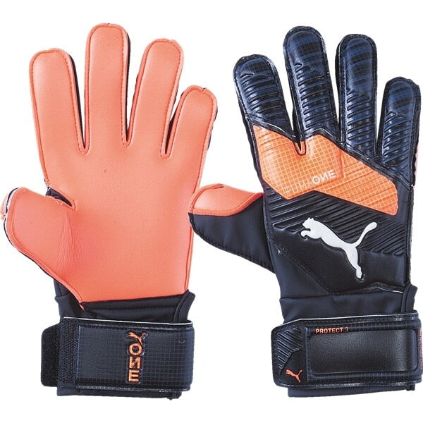 PUMA Kids One Protect 3 Goalkeeper Gloves Black/Energy Red/White