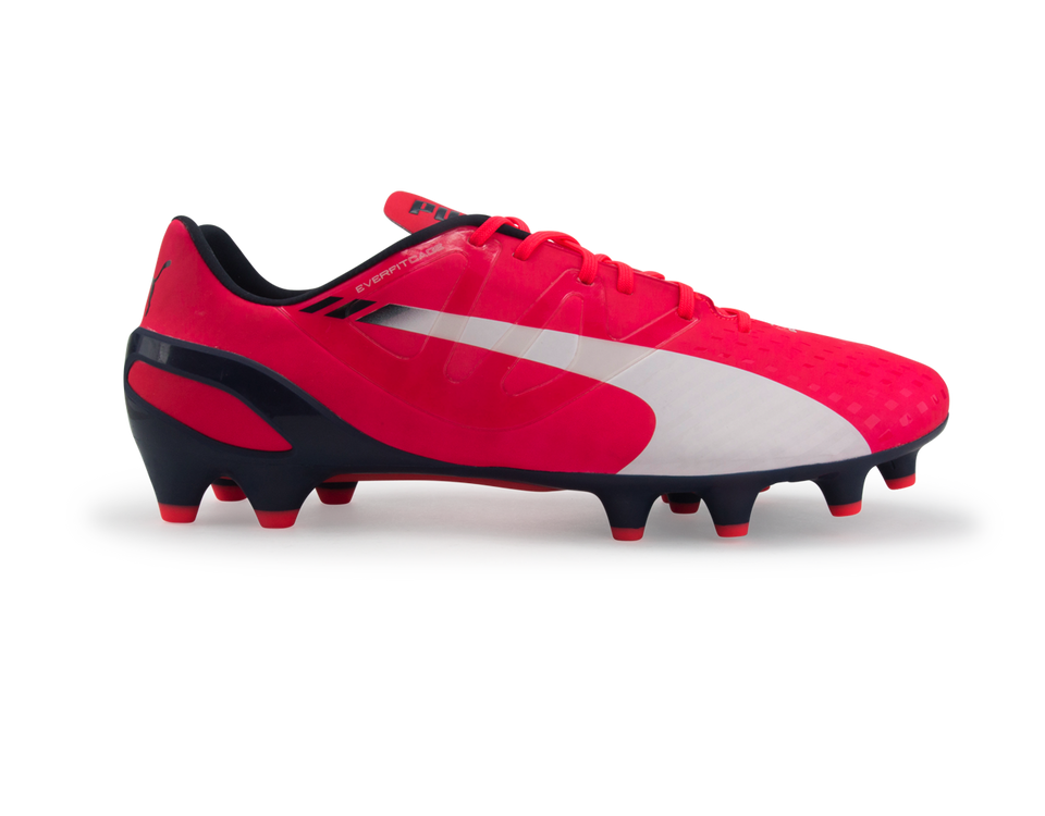 PUMA Men's evoSPEED1.3 FG Bright Plasma/White/Peacoat