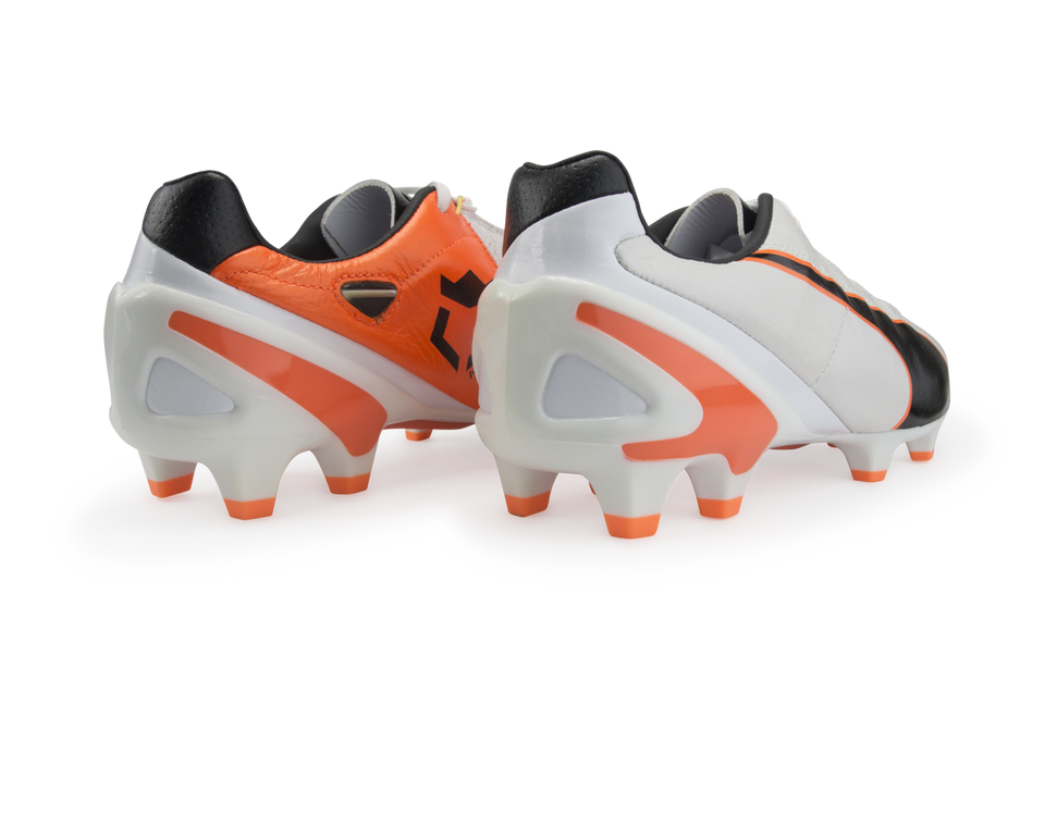PUMA Men's King II EF+ FG Cleats White/Black/Flou Orange