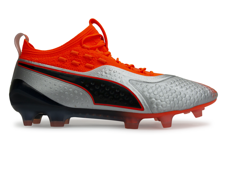PUMA Men's One 1 Syn FG/AG Silver Orange/Black