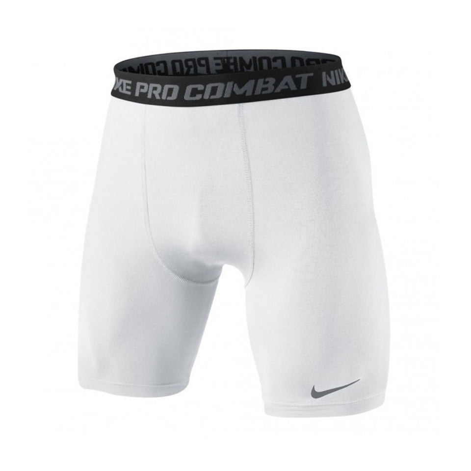 Nike Men's Core Combat 2.0 6 in Compression Shorts White/Black