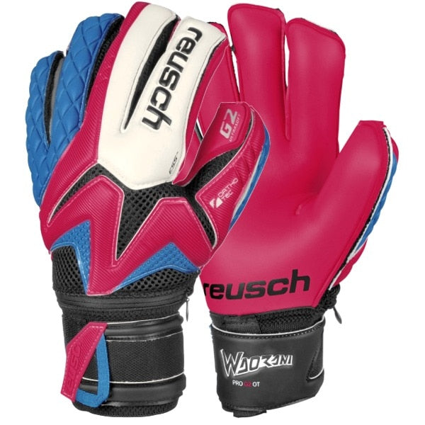 Reusch Men's Goalkeeper Waorani Pro G2 Ortho-Tec Gloves Raspberry/White