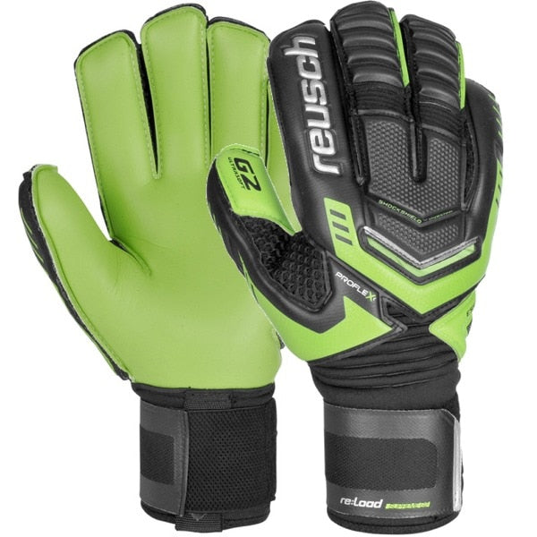 Reusch Men's Goalkeeper Load Supreme G2 Ortho-Tec Gloves  Black/Dark Green/Green Gecko