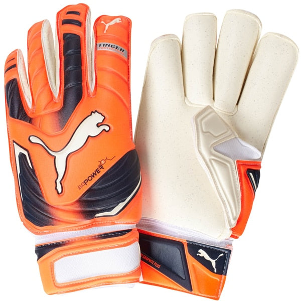 PUMA Men's evoPOWER Protect 2 RC Goalkeeper Gloves White/Fluro Yellow/Prism Vio