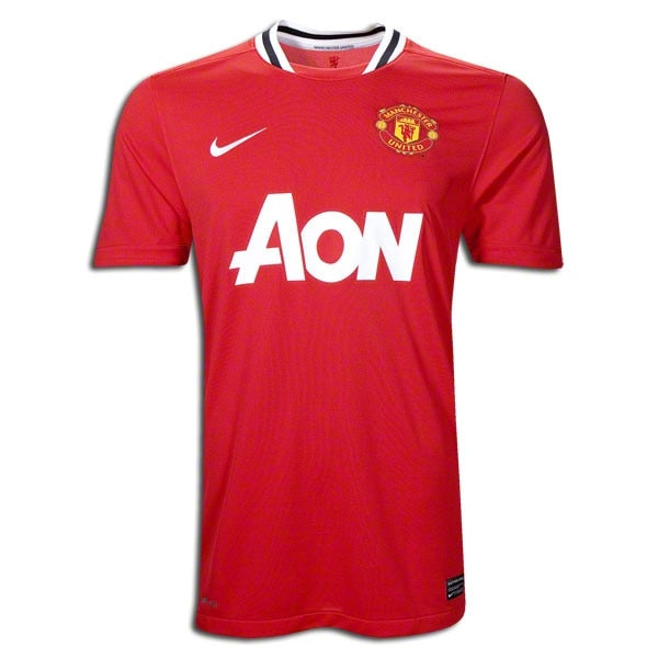 Nike Men's Manchester United 12/13 Home Jersey Risk Red/Black/White