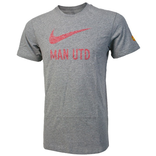 Nike Men's Manchester United Basic Tee Grey/Red