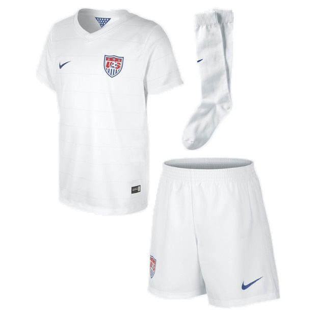 Nike Little Boys USA 14/15 Home Stadium Kit Football White/Game Royal