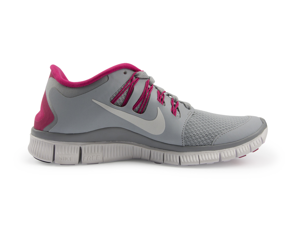 Nike Women's Free 5.0+ Running Shoes Wolf Grey/White/Pink Force