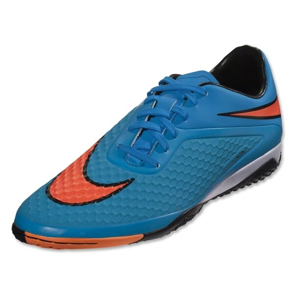 Nike Men's Hypervenom Phelon Indoor Soccer Shoes Clearwater/Blue Lagoon/Total Crimson