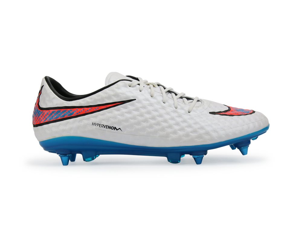 Nike Men's Hypervenom Phantom SG-Pro White/Blue Lagoon/Total Crimson