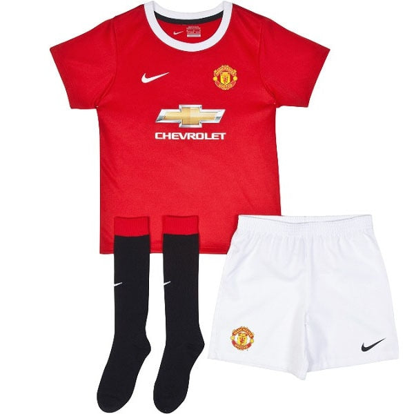 Nike Toddlers Manchester United 14/15 Home Kit Diablo Red/Black/Football White