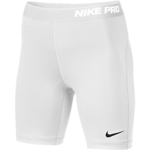 "Nike Women's PRO 7"" Soccer Shorts White"