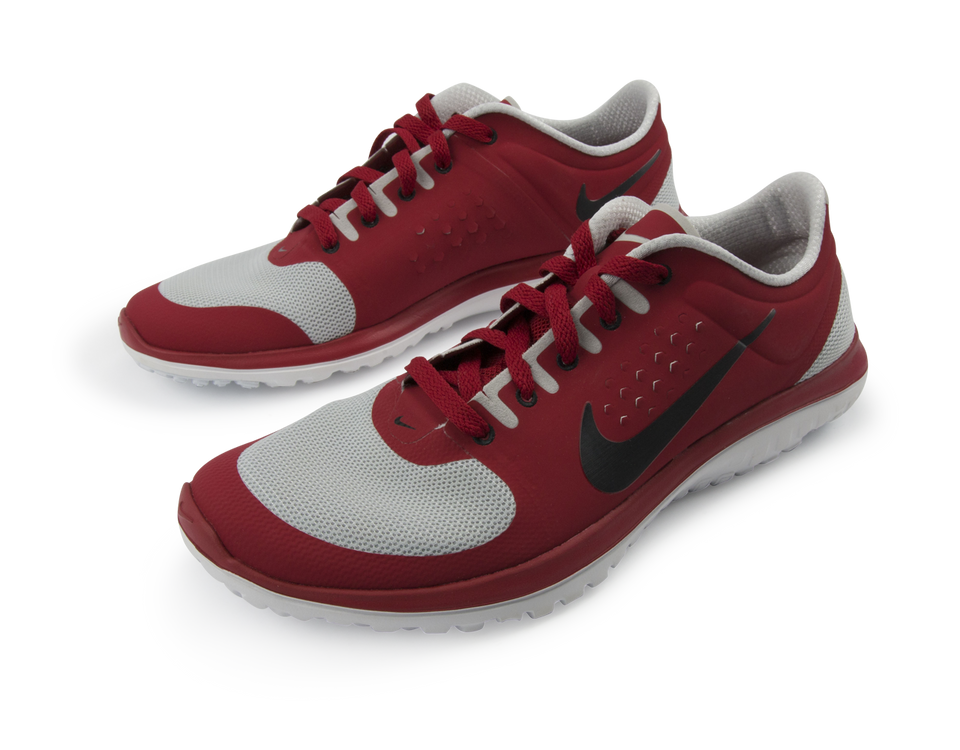 Nike Men's FS Lite Run Running Shoes Pure Platinum/Black/Gym Red