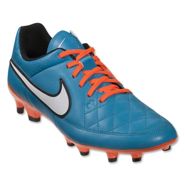 Nike Men's Tiempo Genio Leather FG Neo Turquoise/White/Hyper Crimson
