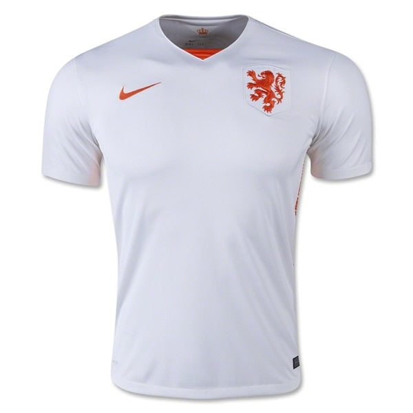 Nike Men's Netherlands 15/16 Stadium Away Jersey Football White/Safety Orange