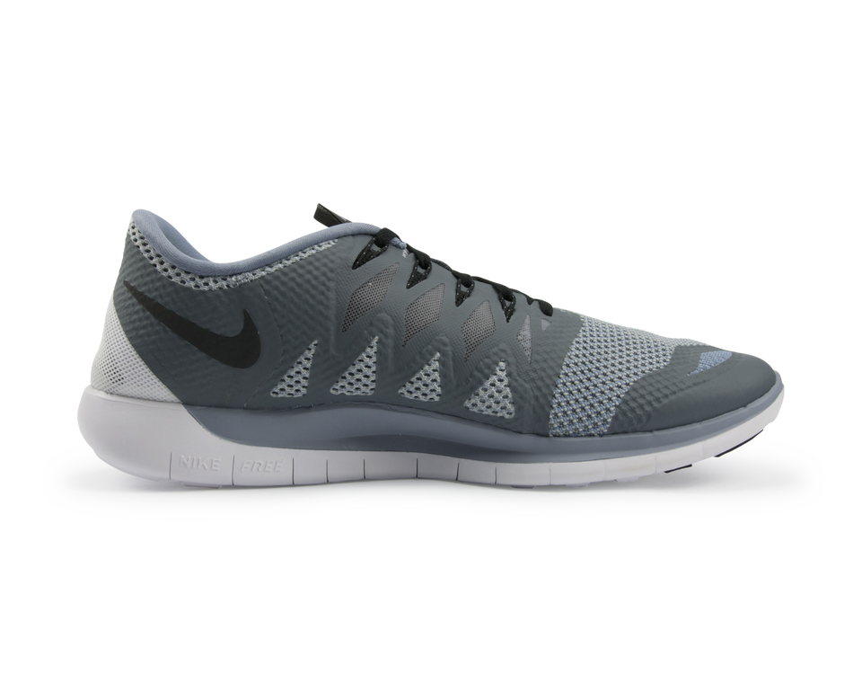 Nike Men's Free 5.0  Running Shoes Cool Blue/Black/Wolf Grey