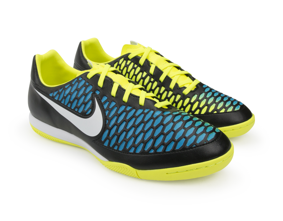 Nike Men's Magista Onda Indoor Soccer Shoes  Black/Volt/Blue Lagoon