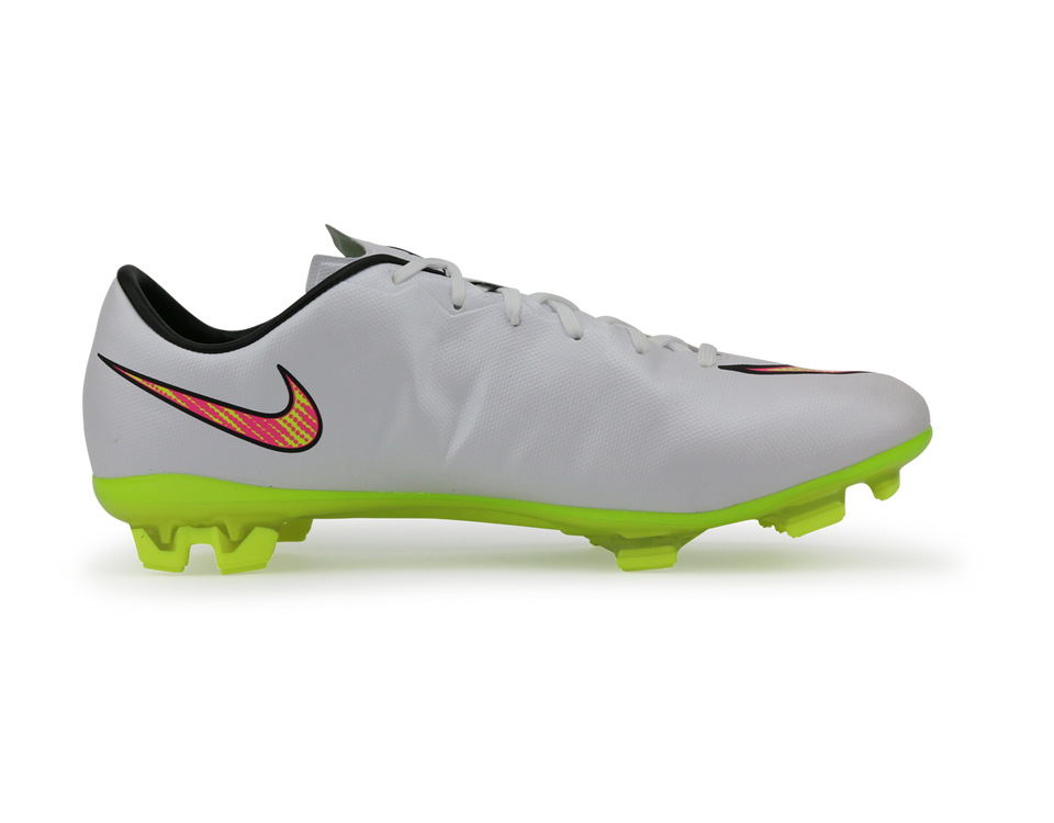 Nike Men's Mercurial Veloce II FG White/Volt/Black