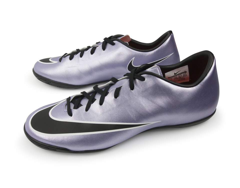 Nike Men's Mercurial Victory V Indoor Soccer Shoes Urban Lilac/Black/Brght Mango/White