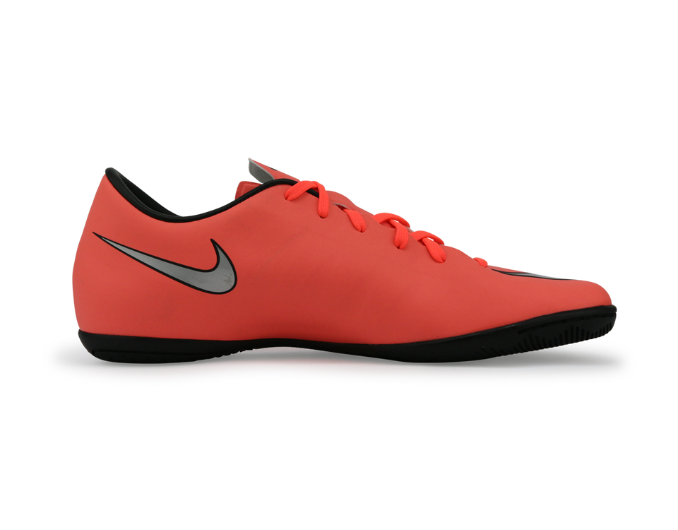 Nike Men's Mercurial Victory V Indoor Soccer Shoes Bright Mango/Metallic Slivr/Hyper Turquoise