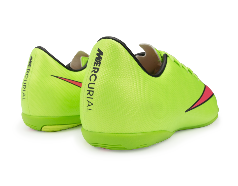 Nike Kids Mercurial Victory V Indoor Soccer Shoes Electric Green/Hyper Punch/Black