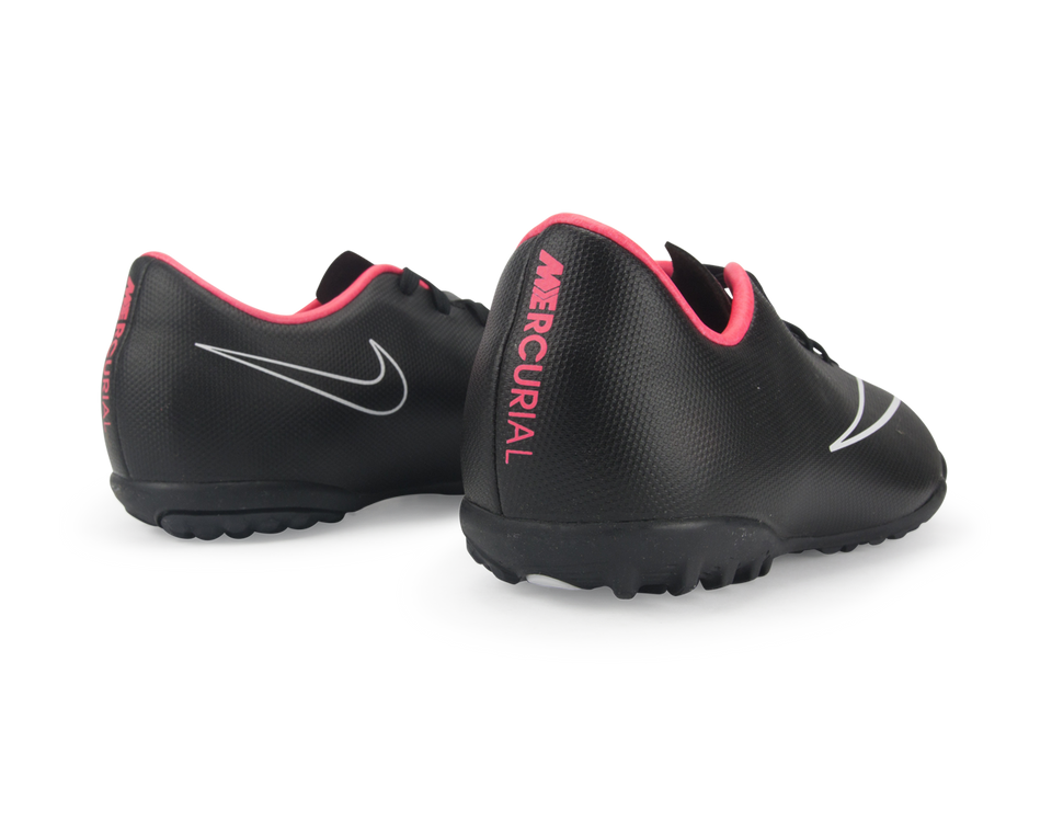 Nike Kids Mercurial Victory V Turf Soccer Shoes Black/Hyper Punch/Black
